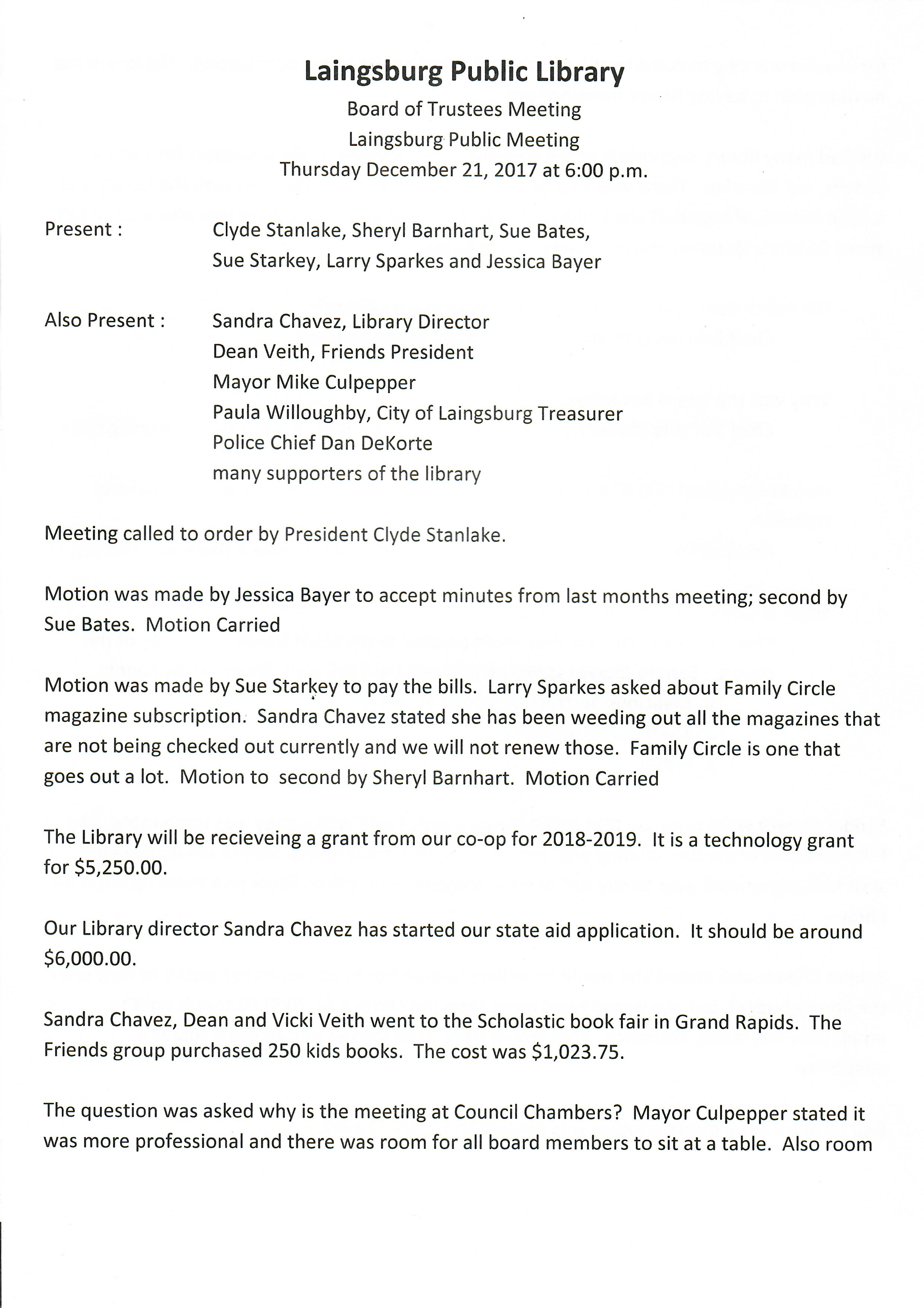 december 2017 board meeting minutes page 1